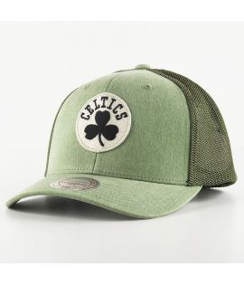 Casquette Mitchell & Ness Boston Celtics Trucker Olive