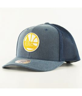 Casquette Mitchell & Ness Golden States Warriors Trucker Bleu