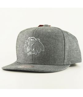 Casquette Mitchell & Ness Chicago Black Hawks Italian Washed Snapback NHL Gris