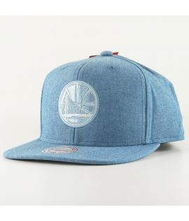Casquette Mitchell & Ness Golden States Warriors Italian Washed Snapback NBA Bleu Ciel
