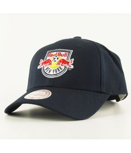Casquette Courbée Mitchell & Ness New York Red Bull MLS Bleu Marine