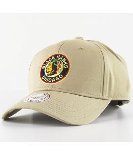 Casquette Courbée Mitchell & Ness Chicago Blackhawks NHL Beige