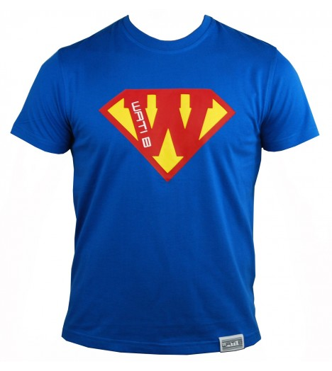 T-shirt WATI B Superman Bleu roi / Rouge by Sexion d'Assaut