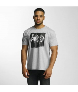 T-shirt Dangerous DNGRS From The Streets Throw Up Gris