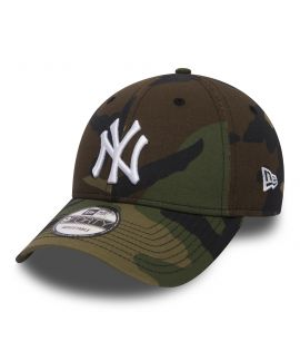 Casquette Incurvée New Era New York Yankees League Essential 9Forty Vert Camouflage