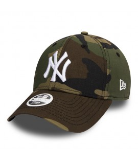 Casquette Incurvée Femme New Era New York Yankees Vert Camouflage 940