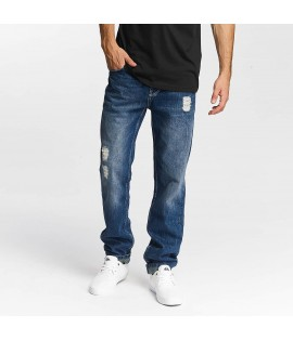 Jeans Straight Fit Just Rhyse Bleu