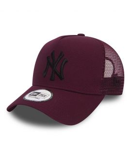Casquette Trucker Femme New Era New York Yankees Essential Truck Bordeaux