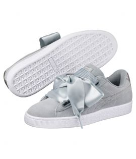 Chaussures Puma Suede Heart Safari Gris Do You
