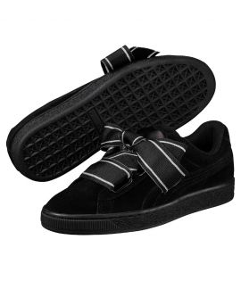 Chaussures Puma Suede Heart Satin II Noir Do You