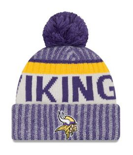 Bonnet Pompon New Era Minnesota Vikings Doublé Polaire NFL On Field Sport Knit