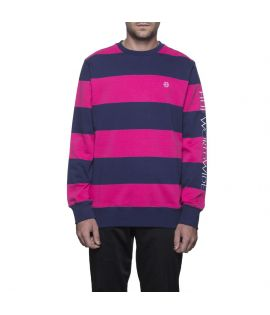 Sweat HUF Catalina Stripe Crew Magenta