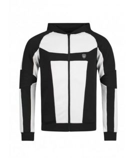 Sweat Zippé Unkut Break Noir Blanc