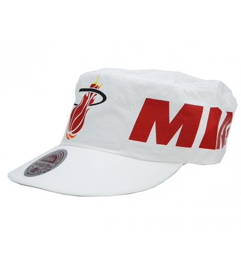 MITCHELL & NESS Elastic back Miami HEAT Blanc