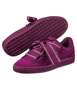 Chaussures Puma Suede Heart Satin II Violet Do You