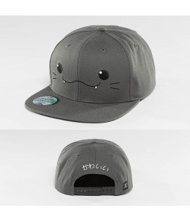 Casquette Snapback Just Rhyse Kawaii Cat Grise