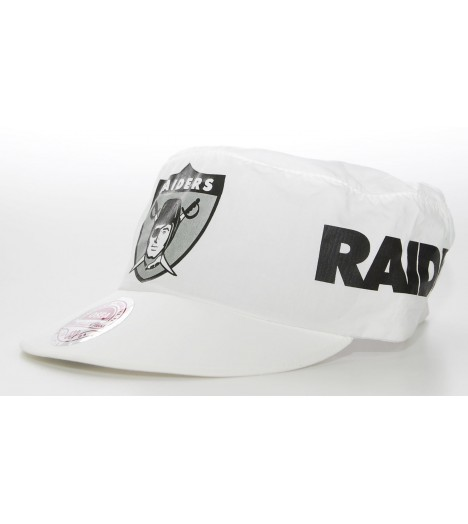 Casquette de peintre MITCHELL & NESS RAIDERS Blanc Flexfit Painter