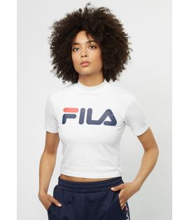 T-shirt Manches Courtes Femme Fila Every Turtle Tee Blanc Col Roulé