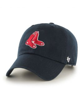 Casquette 47 Brand Boston Red Sox Vintage Clean Up Bleu Marine