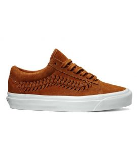 Chaussures Vans Old Skool Weave Glazed Ginger Brun