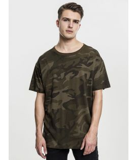 T-shirt Ample Urban Classics Olive Camouflage