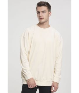 Sweat Velours Urban Classics Crewneck Beige
