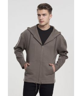 Sweat Zippé Urban Classics Army Vert Long Hoody