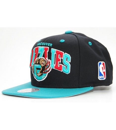 MITCHELL & NESS Snapback GRIZZLIES Noir / Turquoise Tri-Pop