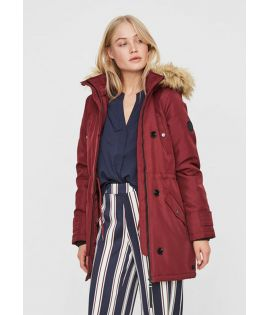 Parka Femme Vero Moda Track Excursion 3/4 Bordeaux