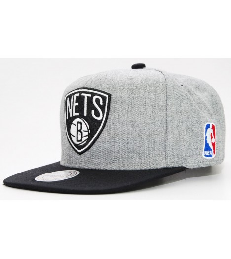 MITCHELL & NESS Snapback NETS Gris / Noir Team Pop