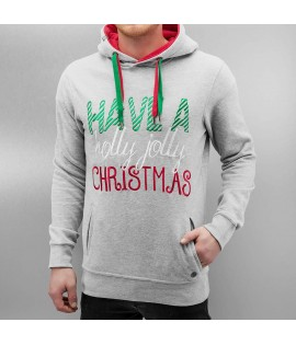 Sweat Capuche Just Rhyse / Christmas Gris