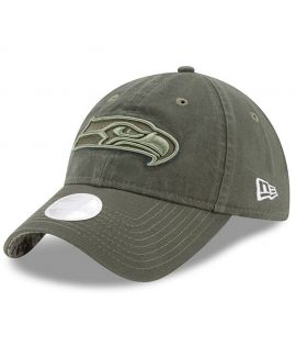 Casquette Incurvée Femme New Era Seattle Seahawks 9Twenty Olive Salute To Service