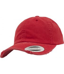Casquette Incurvée Flexfit Low Profile Destroyed Rouge