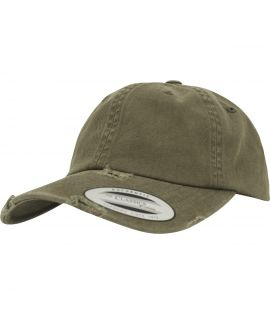 Casquette Incurvée Flexfit Low Profile Destroyed Olive