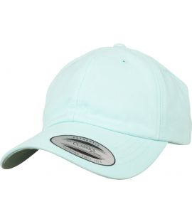 Casquette Incurvée Flexfit Low Profile Peached Cotton Twill Bleu ciel