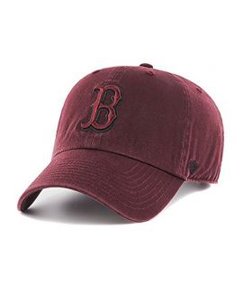Casquette 47 Brand Boston Red Sox Clean Up Bordeaux