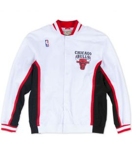 Veste Mitchell & Ness Chicago Bulls Authentic Warm Up 92-93 Hardwood Classics Blanc