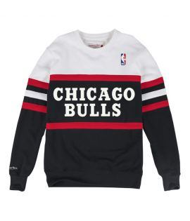 Sweat Mitchell & Ness Chicago Bulls NBA Head Coach Noir Blanc