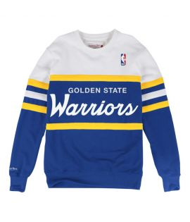 Sweat Mitchell & Ness Golden States Warriors NBA Head Coach Bleu Roi Blanc