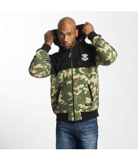 Sweat Zippé Thug Life Zip Hoodie Wired Camouflage