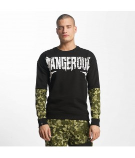 Sweat Dangerous DNGRS Jumper Methal Noir Camouflage