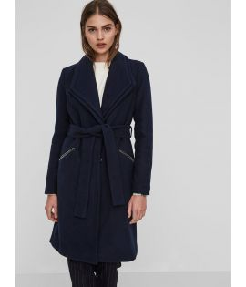 Manteau Vero Moda Pisa Long Wool Jacket Bleu marine