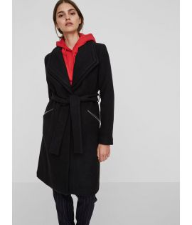 Manteau Vero Moda Pisa Long Wool Jacket Noir