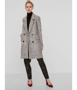 Manteau Vero Moda Fiesta Loop 3/4 Wool Jacket Gris Clair Laine