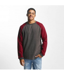 Sweat Just Rhyse Pullover Klawock Gris Bordeaux