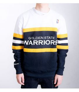 Sweat Mitchell & Ness Golden States Warriors NBA Head Coach Noir Blanc