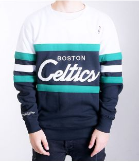 Sweat Mitchell & Ness Boston Celtics NBA Head Coach Noir Blanc