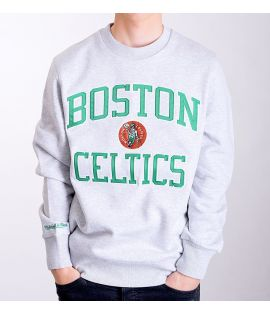 Sweat Mitchell & Ness Boston Celtics NBA Hardwood Classics Crewneck Gris