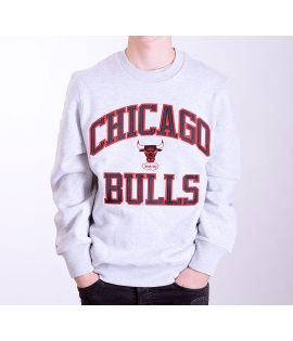Sweat Mitchell & Ness Chicago Bulls NBA Hardwood Classics Crewneck Gris