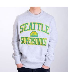 Sweat Mitchell & Ness Seattle Supersonics NBA Hardwood Classics Crewneck Gris
